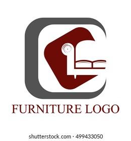 Furniture logo set