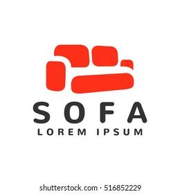Furniture Logo template. Furniture icon. Furniture store logo. Furniture design. Furniture isolated. Sofa isolated. Sofa interior. Sofa icon.