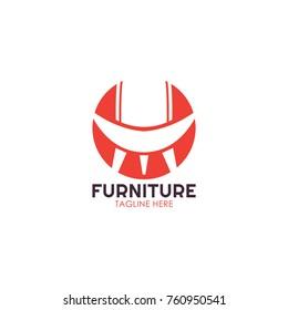 Furniture Logo Template. Modern Design. Vector Illustration