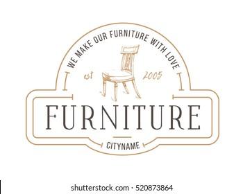 Furniture Logo. Vintage furniture store logo. ?hair