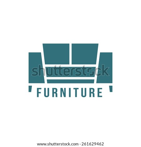 Furniture Logotype With Green Sofa Icon Concept Of Store Shop Or Salon Mark Corporate