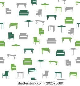 Möbel mit nahtlosem Muster