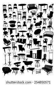 Furniture Silhouettes Set
