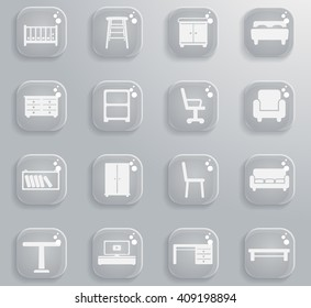 Furniture simply symbols for web and user interface