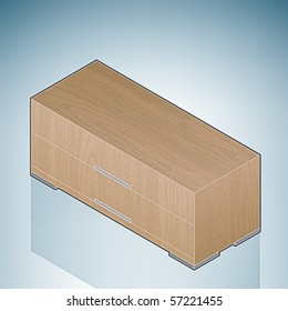 Furniture: Small Bedroom Chest of Drawers