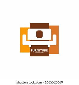 Furniture store logo and design sofa   vecter.