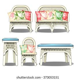 Furniture for a summer garden. Vector.