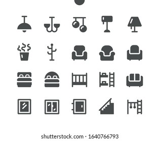 Furniture v3 UI Pixel Perfect Well-crafted Vector Solid Icons 48x48 Ready for 24x24 Grid for Web Graphics and Apps. Simple Minimal Pictogram