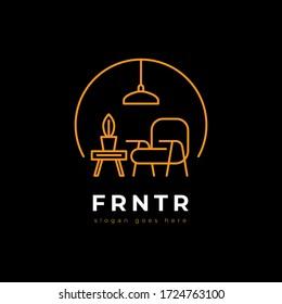 furniture vector logo - furniture logo outline