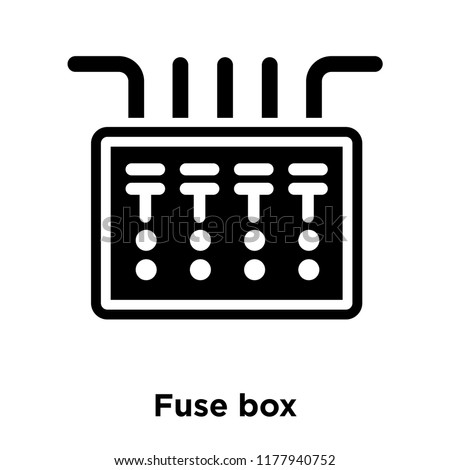 fuse box icon vector isolated on stock vector (royalty freefuse box icon vector isolated on white background, logo concept of fuse box sign on