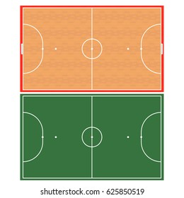 Futsal playground with real proportions
