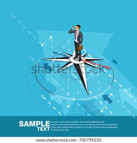 future business leader concept finance manager のベクター画像素材