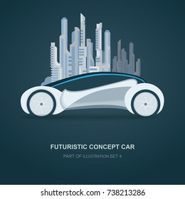 Future concept car illustration.
