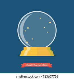 Future crystal ball or Magic crystal ball. Vector illustration