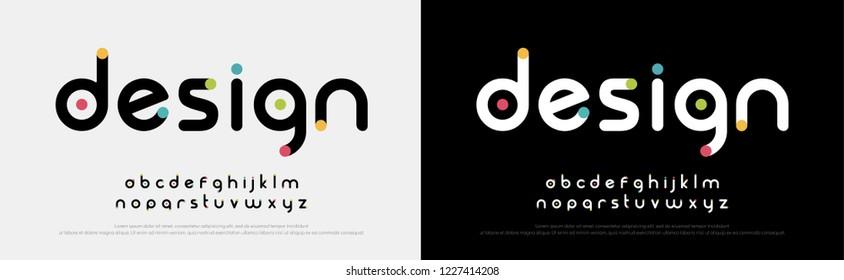 Future font creative modern alphabet fonts. Typography colorful bold witn color dot regular. vector illustrator