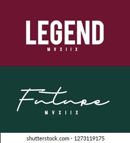 Future legend graphic