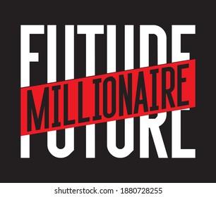 future millionaire typography design split text