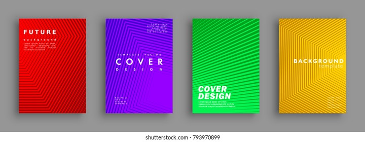 Future minimal covers design. Colorful halftone gradients. Background geometric patterns. Vector template brochures, flyers, presentations, leaflet, magazine a4 size