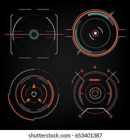 future sight action mode Radar interface UI future design graphic illustration