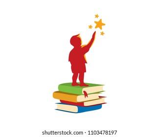 Future Star Children Development Book Logo Illustration