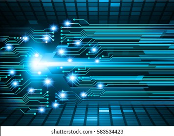 future technology, blue cyber security concept background, abstract hi speed digital internet.motion move blur. pixel . vector