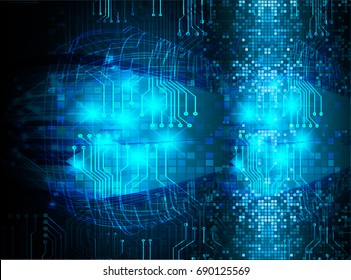 future technology, blue cyber security concept background, abstract hi speed digital internet.motion move blur. pixel. vector