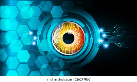 future technology, blue eye cyber security concept background, abstract hi speed digital internet.motion move speed blur. pixel. vector