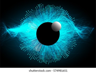 future technology, blue eye cyber security concept background, abstract hi speed digital internet.motion move blur. pixel eyeball. vector