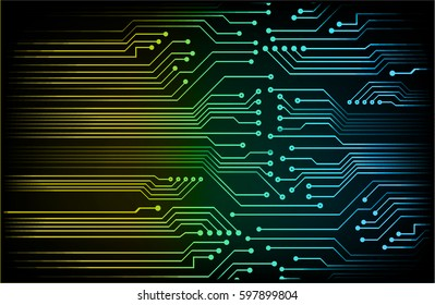 future technology, Circuit blue yellow green security concept background, abstract hi speed digital internet.motion move blur. pixel . vector