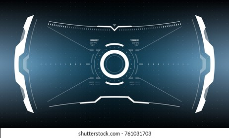 Future Technology Display Design. HUD User Interface