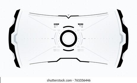 Future Technology Display Design. HUD User Interface