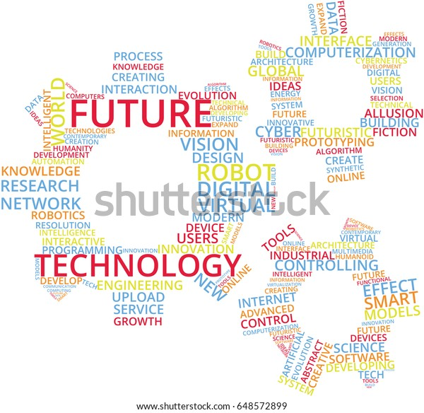 Future Technology Word Cloud Text Illustration Stock Vector Royalty Free 648572899