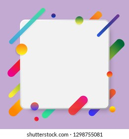Futurism flyer abstract background design with copy space. Colorful bright and cheerful vector Illustration pattern for commercials advertisement.