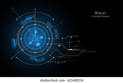 Futuristic abstract background circle sci fi technology innovation concept