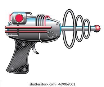 Futuristic alien ray gun weapon