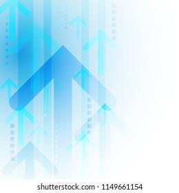 futuristic arrow technology background, vector illustration