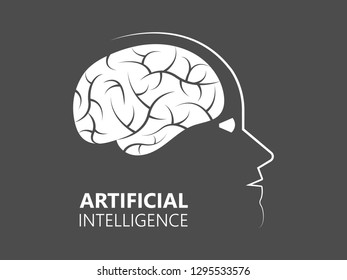 Futuristic Artificial intelligence concept. Cyber mind aesthetic design. Machine learning Vector Illustration