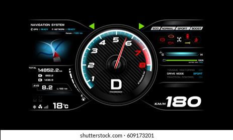 Futuristic automobile concept, Car dash board vector illustration eps 10