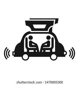 Futuristic autopilot car icon. Simple illustration of futuristic autopilot car vector icon for web design isolated on white background
