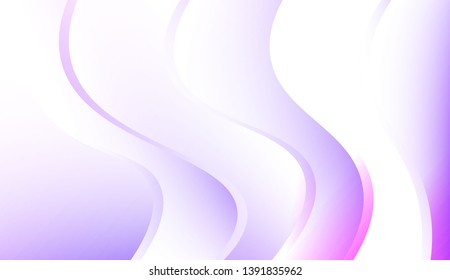 Futuristic Background With Color Gradient Geometric Shape. For Futuristic Ad, Booklets. Colorful Vector Illustration.
