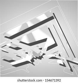 Futuristic background, geometric technology style illustration.