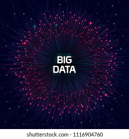 Futuristic Big Data Technology Concept Art and Visualization. The big one of the digital transformation.