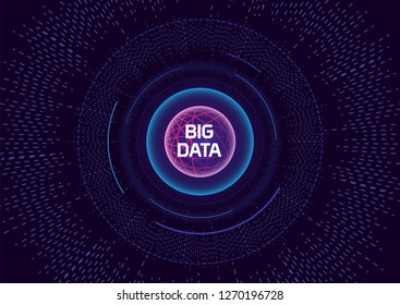 Futuristic Big Data Technology Concept Art and Visualization.