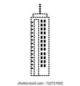 futuristic building isolated icon