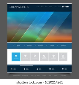 Futuristic Business Website Template Design with Abstract Blurred Background