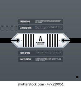 Futuristic corporate web design template. Useful for presentations or advertising.