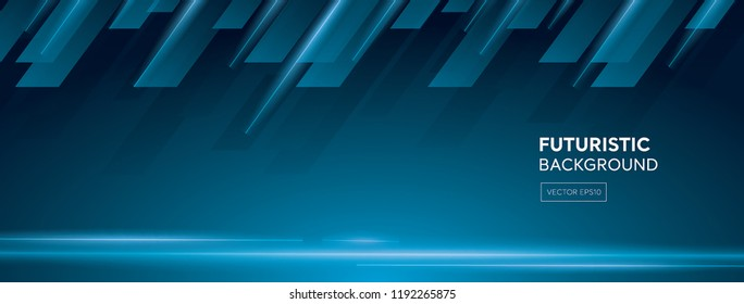Futuristic creative dark blue abstract banner background with laser light beams