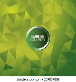 Futuristic Design, background with triangle - brochure design or flyer