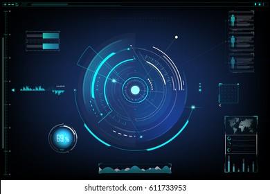 futuristic. design of sci fi interface and background.vector illustration