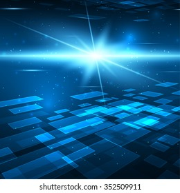 Futuristic digital background with space for your text. Technology illustration for your business/science/technology artwork. Vector design element.